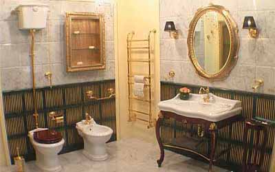 Łazienka z akcesoriamii retro